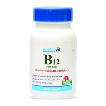 HealthVit B12 Ideal for Vitamin B12 Deficiency 60 Tablets