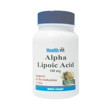 HealthVit Alpha Lipoic Acid 100 mg 60 Tablets For Hair & Skin Care