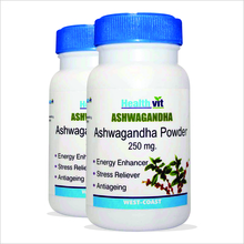 HealthVit ASHWAGANDHA Powder 250 mg 60 Capsules Pack of 2