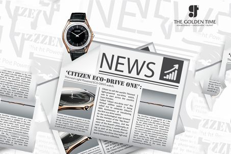 'Citizen Eco-Drive One':Thinnest Light Powered ECO-DRIVE watch.