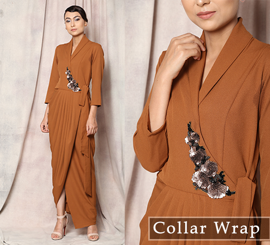 Madame Me's Shawl Collar Wrap Dress
