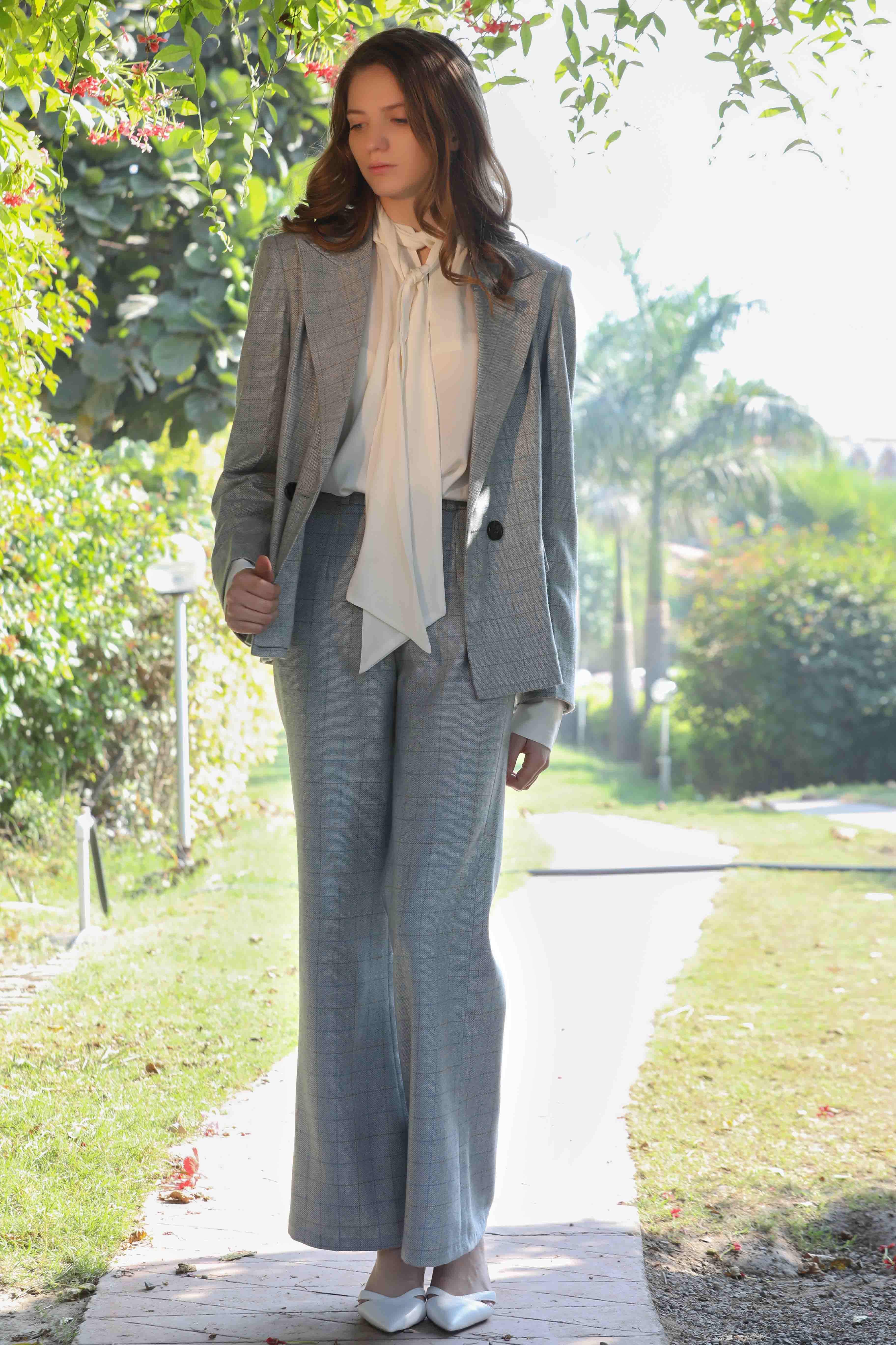Label Meadow's, Powder blue tweed pants