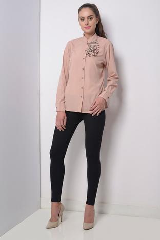 Zeniaa, Nude Pink Embellished Shirt