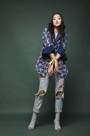 Chandni Sahi, Jacket With Asymetrical Inner & Pants