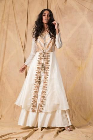 Anjali Jani, Ivory jacket kurta and sharara