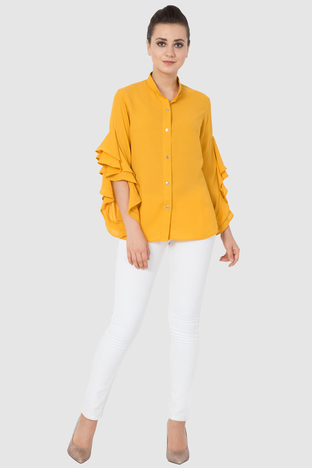 Aakaar,  Ruffle Formal Shirt