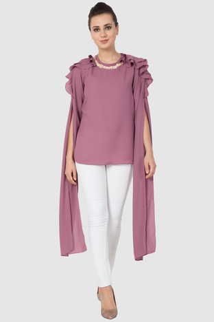 Aakaar, Shoulder Ruffle Top