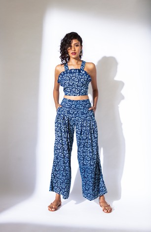 Akashi, Back Tie up Crop top and Pant