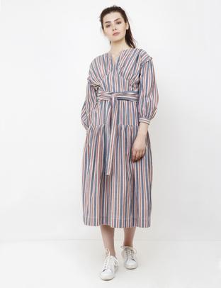 S & V, Multi-Colored  Long Dress