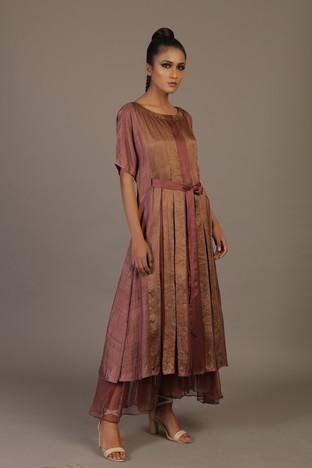 Priyam Narayan Designs's, Box Pleated Kimono Style Dress