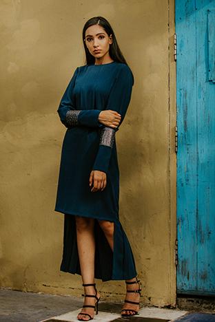 Label Sheena Singh,  Electric Blue High Low Dress