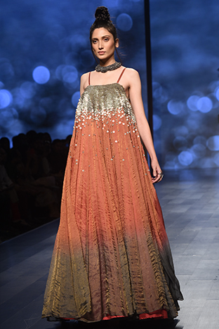 Abstract By Megha Jain Madaan, Long Flowy Gown