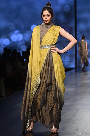 Abstract By Megha Jain Madaan, Drapped Dress