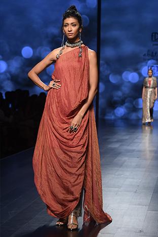 Abstract By Megha Jain Madaan, Assymetrical One Piece Dress
