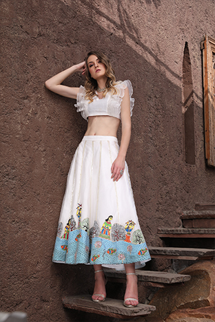 Hasrat E Sassy, Flare Skirt And Ruffle Blouse Set