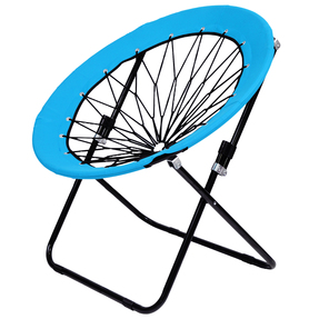Story@Home Folding  Light Weight, Portable, Indoor Outdoor Lawn Round Bungee Dish Chair-Blue
