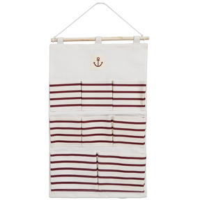 Story@Home Fabric Wall Door Hanging Organizing Bag, Beige