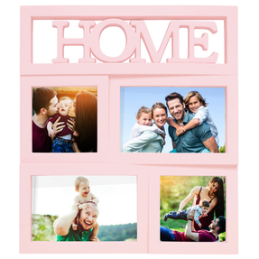 Story@Home Premium Home Plastic Collage Photo Frame (30 cm x 30 cm x 30 cm, Pink)