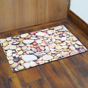 Story@Home Designer Stone Cotton Blend Doormat - 16