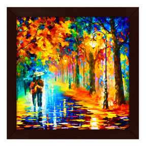 Story@Home Picture Perfect Love Couple with Umbrella Art Framed Wall Painting