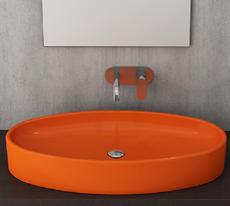 Bocchi -  Cortina  Oval  -  1014-019-0125 - Orange  basin