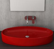 Bocchi - Cortina - 1014-019-0125  - Oval  Red  Basin