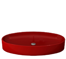 Bocchi - Cortina - 1014-019-0125  - Oval  Red  Basin