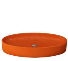 Bocchi -  Cortina  Oval  -  1014-019-0125 - Orange  basin
