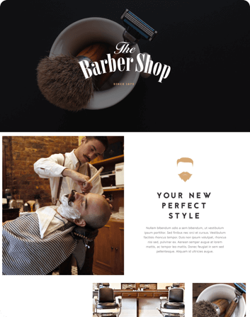 barber shop theme
